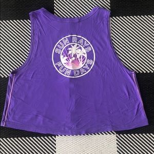 Purple Ivivva cropped tank adorable